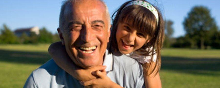 Life Insurance Senior Grand Father and Grand Daughter