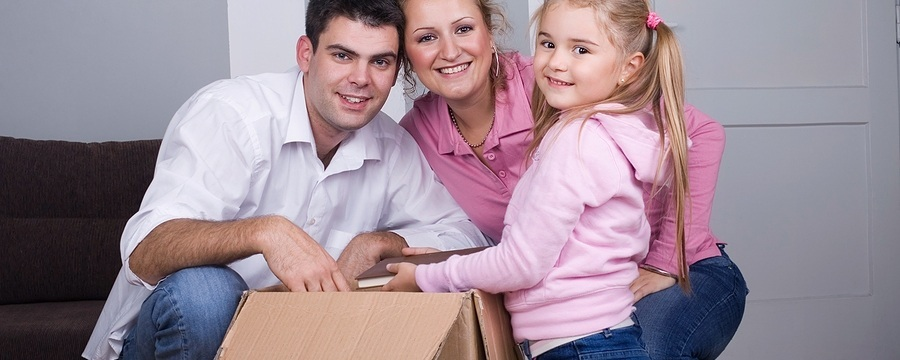 Young family looking for a mortgage insurance